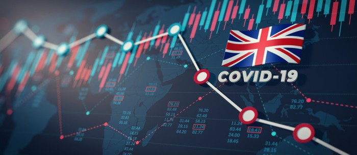 Covid-19,Coronavirus,United,Kingdom,Economic,Impact,Concept,Image.,3d,Illustration.