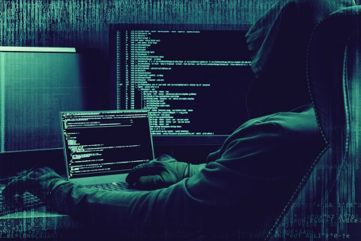 Internet,Crime,Concept.,Hacker,Working,On,A,Code,On,Dark