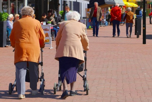 Soest,,Netherlands,-,May,21,,2016.,Two,Elderly,Women,Are