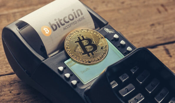 Customer,Pays,By,Bitcoin,To,Pay,A,Bill,At,The