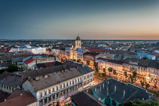 Arad,City,,West,Part,Of,Romania.,Sunset,View