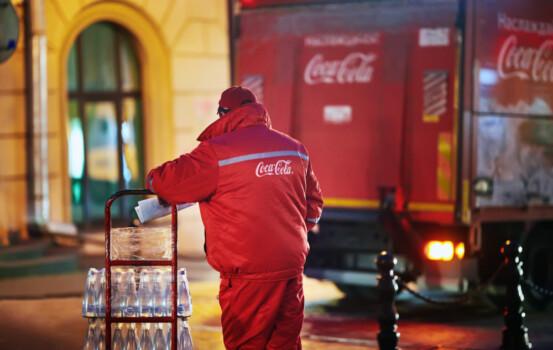Minsk,,Belarus.,Oct,2019.,Man,With,Trolley,Full,Off,Bottles