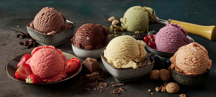 Gourmet,Summer,Dessert,Of,Artisanal,Or,Craft,Ice,Cream,Made