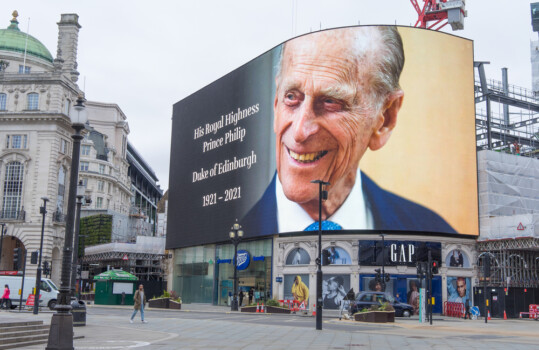 The,Giant,Screens,Of,Piccadilly,Circus,Paying,Respect,To,His