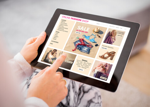 Woman,Shopping,For,Clothes,Online.