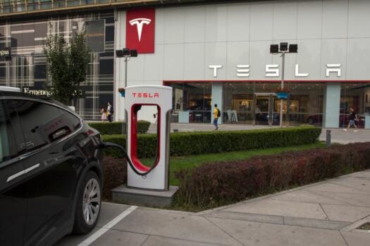 Beijing,,China,-,July,17,,2019:,A,Tesla,Electric,Car
