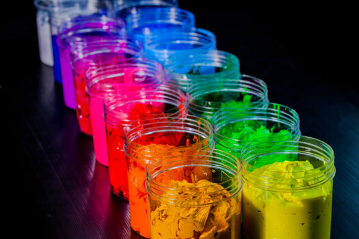 Colorful,Of,Plastisol,Ink.ink,Or,Paint,For,Printing,On,Fabric