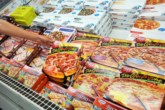 Germany,-,August,11,,2015:,Freezer,Contains,Frozen,Pizza,For