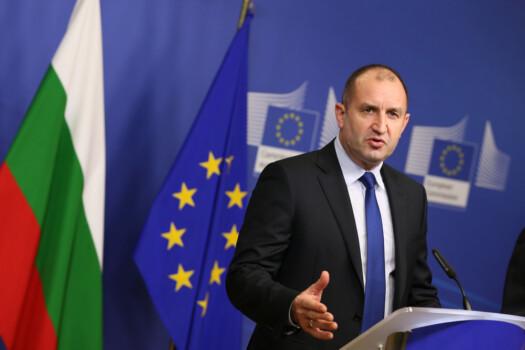 Rumen Radev Brussels,,Belgium,-,January,30,,2017:,Bulgarian,President,Rumen,Radev