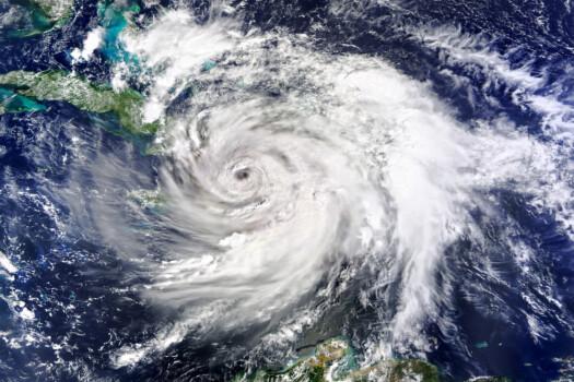 Satellite,View.,Hurricane,Matthew,Hits,Haiti.,Elements,Of,This,Image