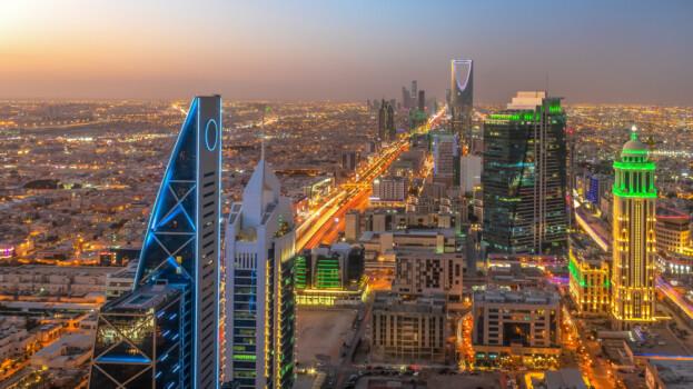 Kingdom,Of,Saudi,Arabia,Landscape,At,Night,-,Riyadh,Tower
