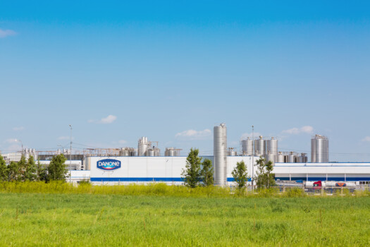 Moscow,Region,,Russia,-,August,,2017:,Danone,Factory,In,Russia