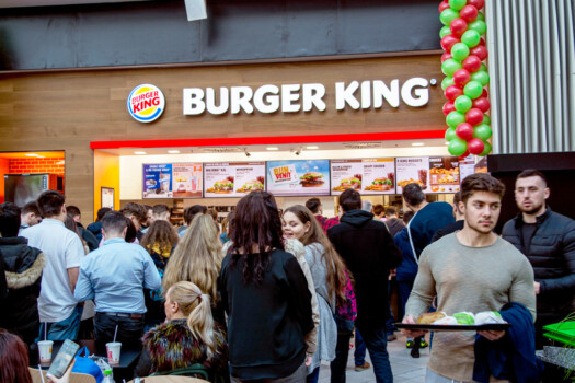 19,December,2019-bucharest,,Romania.,The,Burger,King,Opening,Up,With