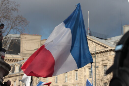 Paris,,France-january,11,,2015:,French,Flag,In,Manifestation,On,Republic