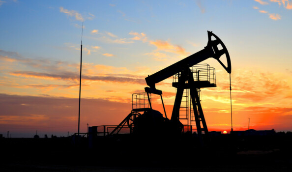 Oil,Drilling,Derricks,At,Desert,Oilfield,For,Fossil,Fuels,Output