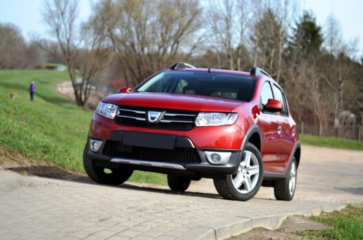 Warsaw,,Poland,-,April,,2nd,,2016:,Dacia,Sandero,Stepway,Stopped