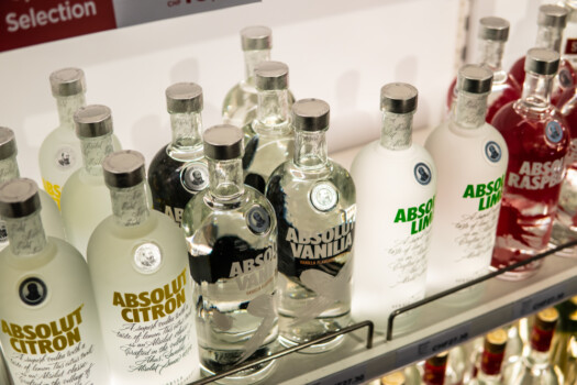 Geneva,,Switzerland,,March,09,,2019,,Bottles,Of,Absolut,Vodka,On