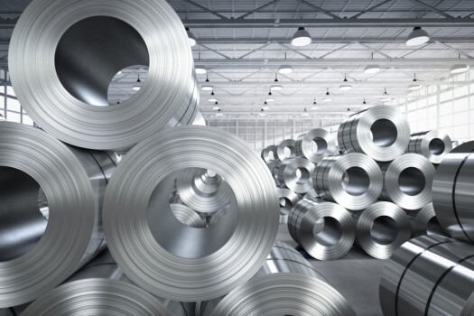 3d,Rendering,Roll,Of,Steel,Sheet,In,Factory